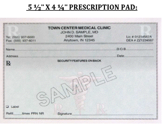 Landscape Tamper Proof Prescription Pads