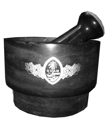 Mortar and Pestle w/Guam Seal